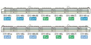 【TOMIX】485系 ひたち色 発売
