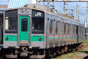 701系(Photo by:toshinori baba / Wikimedia Commons / パブリックドメイン )※画像の車両は商品と仕様が異なる場合があります