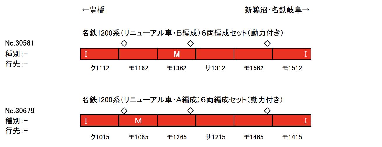 【グリーンマックス】名鉄1200系(リニューアル車)