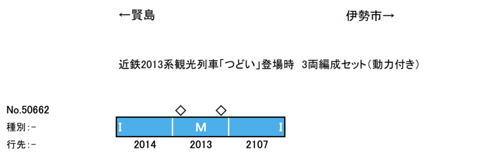 【グリーンマックス】50662 近鉄1230系〈観光列車つどい〉(登場時)