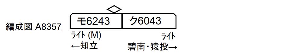 マイクロエース 名鉄6000系 三河線 ワンマン車 2両セット