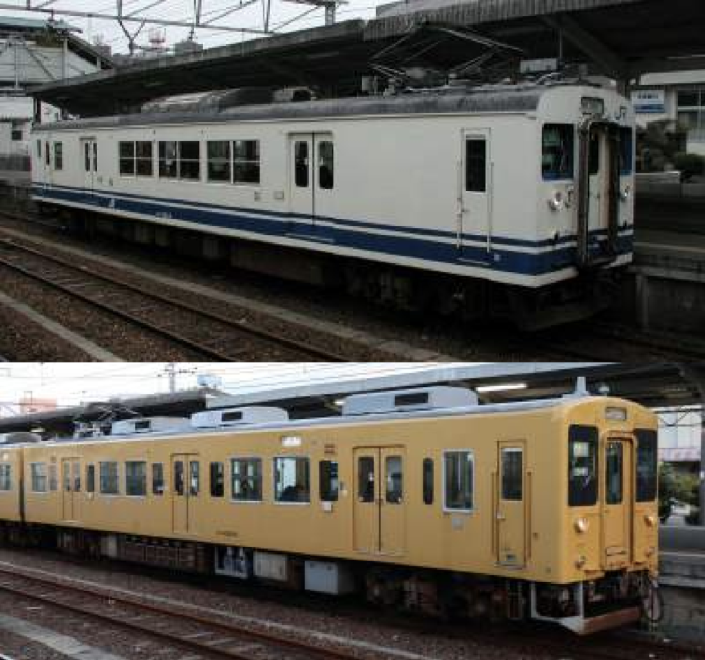 クモハ123広島色+105系濃黄色 3両セット