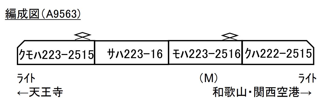 マイクロエース 223系0+2500番代 HE431編成 4両セット