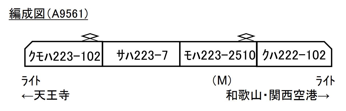 マイクロエース  223系0+2500番代 HE411編成 4両セット