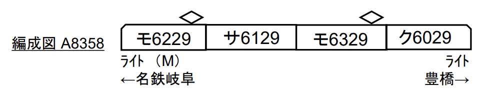 マイクロエース 名鉄6000系 CIマーク付 4両セット