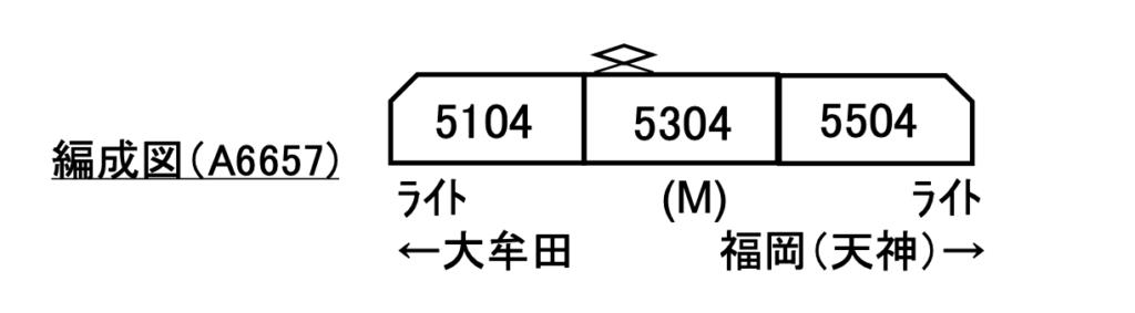 マイクロエース 西鉄5000形 3両セット
