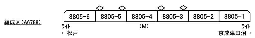 【マイクロエース】新京成8800形(8805F・新塗装)