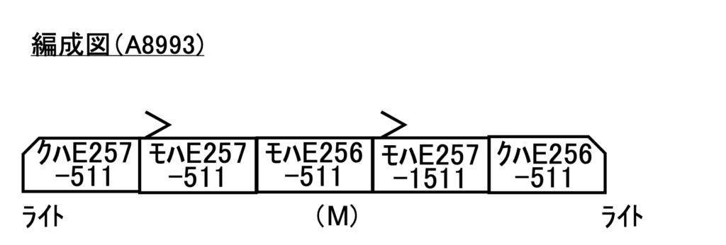 マイクロエース  E257系500番代 波動用 グレー NB-11編成 5両セット