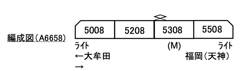 マイクロエース 西鉄5000形 4両セット
