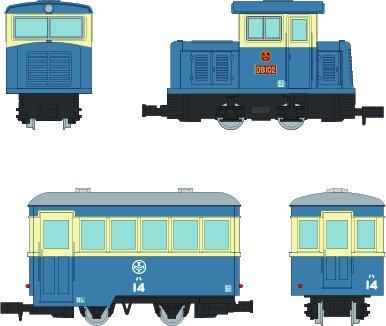 鉄道コレクション ナローゲージ80 猫屋線 DB102・ハ14新塗装 2両セット
