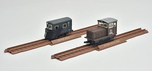 鉄道コレクション ナローゲージ80 猫屋線 ユキ1・DB101茶色塗装 2両セット