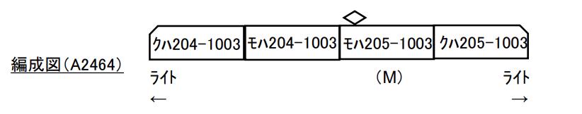 MICROAEC マイクロエース A2464 140208 205系1000番代 クーラー交換車 4両セット
