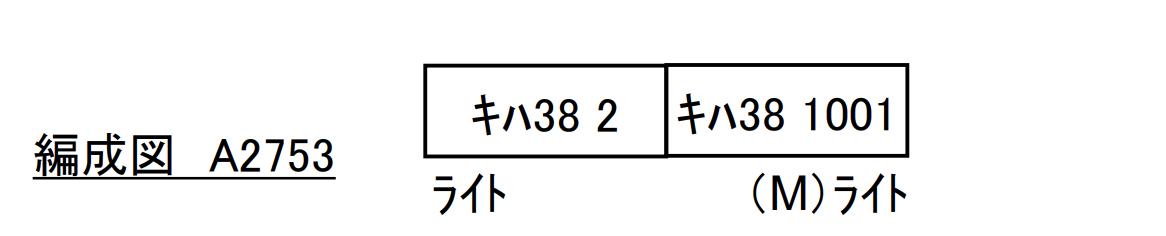 マイクロエース microace A2753 キハ38 八高線 2両セット