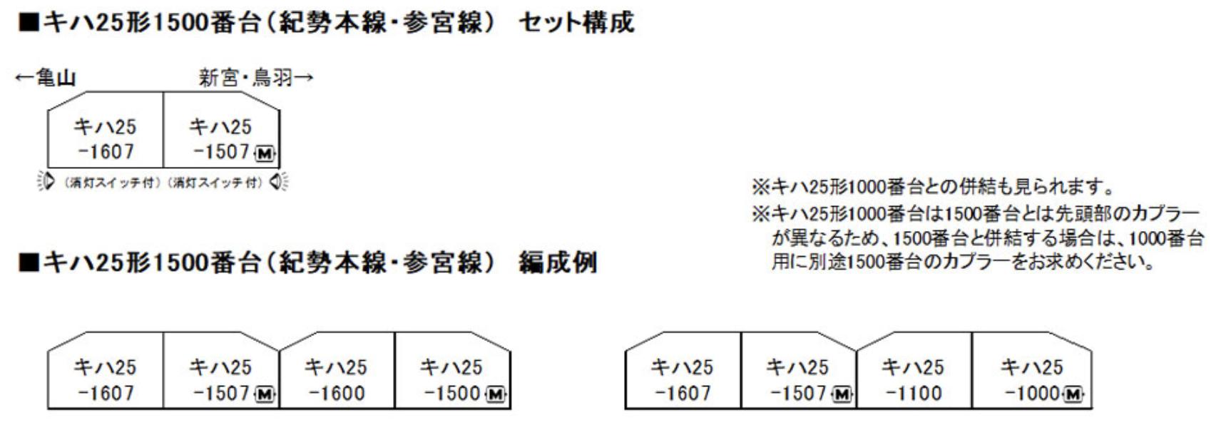kato カトー 10-1372 キハ25形1500番台(紀勢本線・参宮線) 2両セット