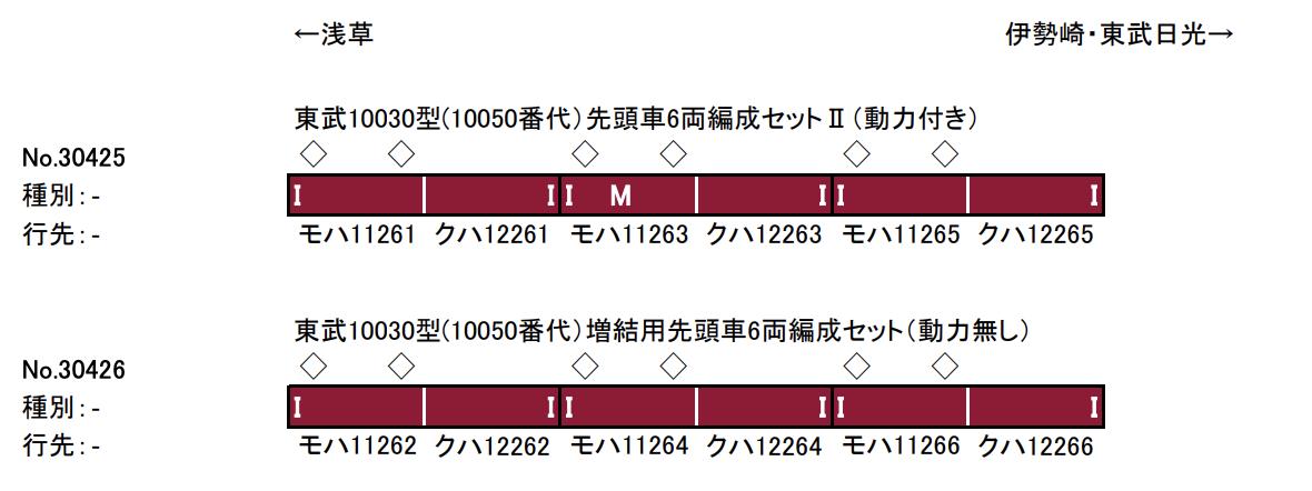 グリーンマックス greenmax 30425 30426 東武10030型(10050番代)