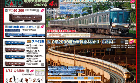 【KATO】2021年4月・5月発売予定 新製品ポスター