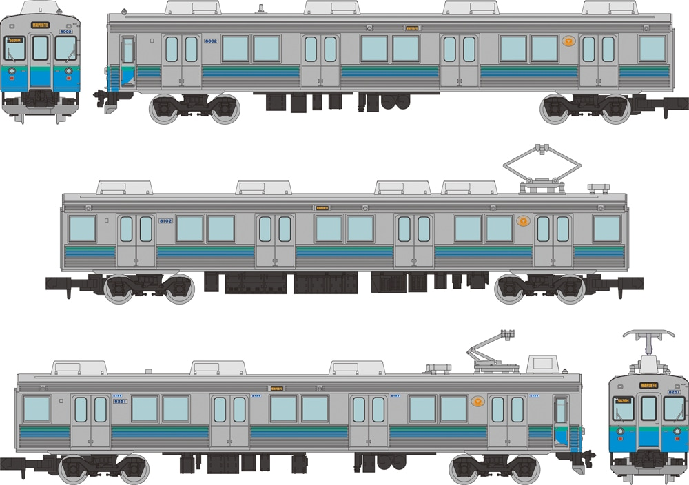 鉄道コレクション 伊豆急行8000系(TB-2編成)3両セットD