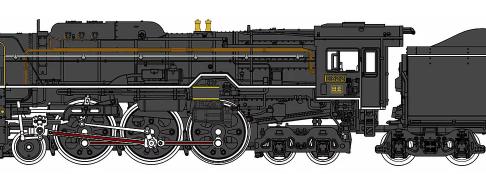 C62形2号機(梅小路機関区)