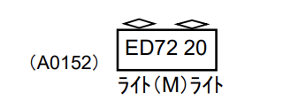 MICROACE マイクロエース A0152 ED72-20 SG撤去車