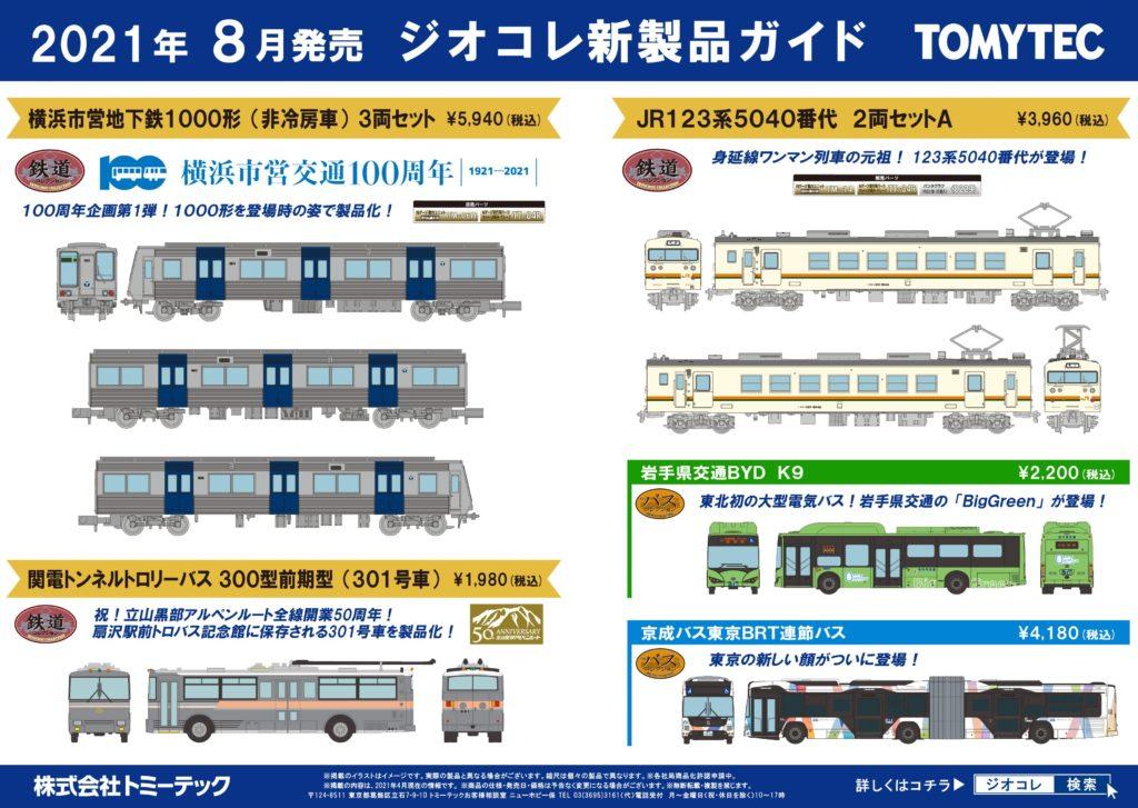 【鉄道コレクション】2021年8月発売予定 新製品ポスター
