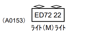 MICROACE マイクロエース A0153 ED72-22 新製時 ATSなし