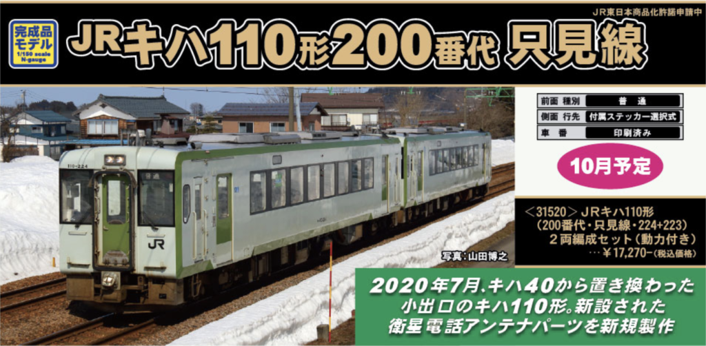 GREENMAX グリーンマックス 31520 JRキハ110形(200番代・只見線・224+223)2両編成セット(動力付き)