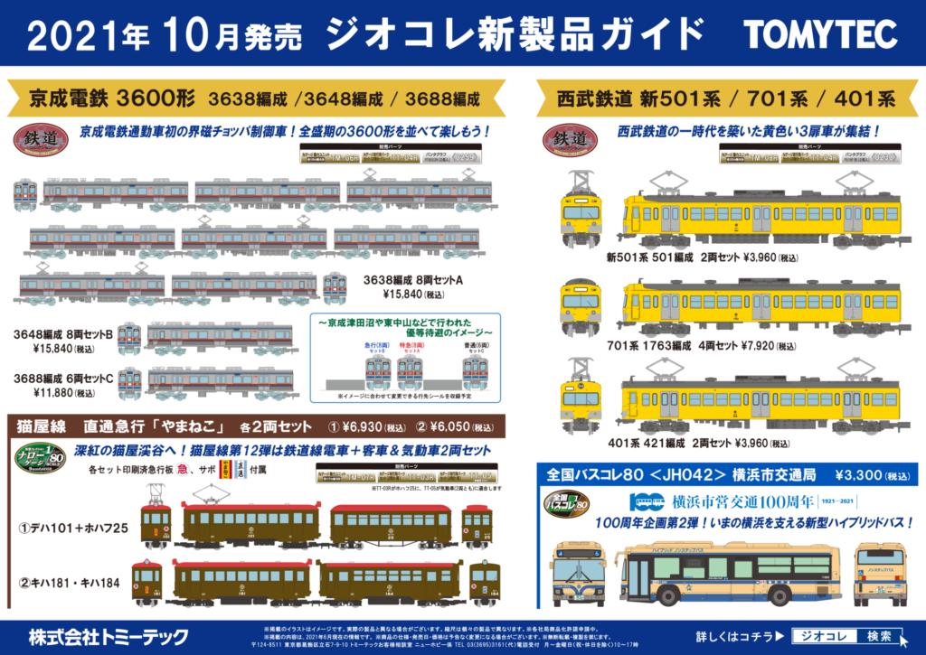 【鉄道コレクション】2021年10月発売予定 新製品ポスター(2021年6月10日発表)
