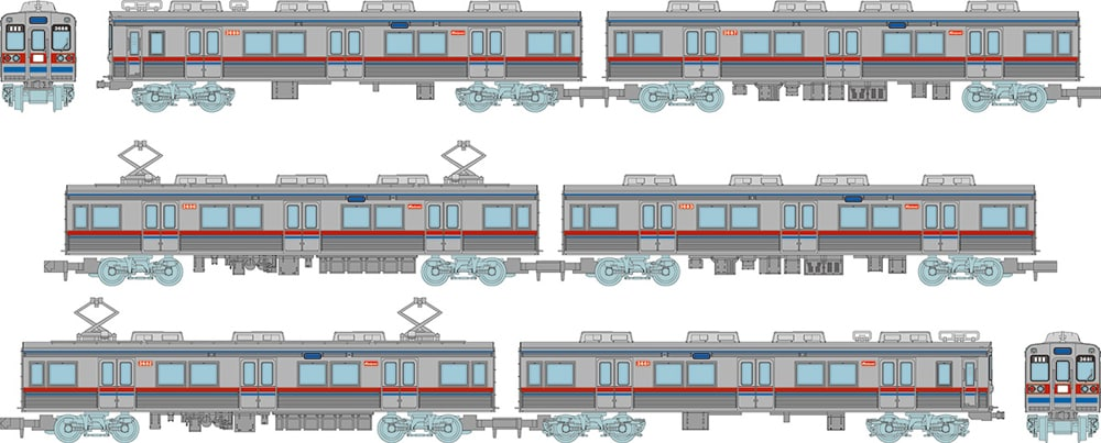 鉄道コレクション 京成電鉄3600形3688編成6両セットC