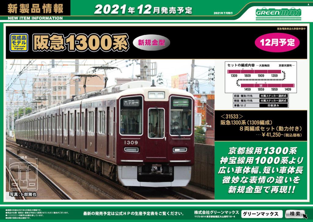 【グリーンマックス】2021年12月発売予定 新製品ポスター(2021年7月7日発表)