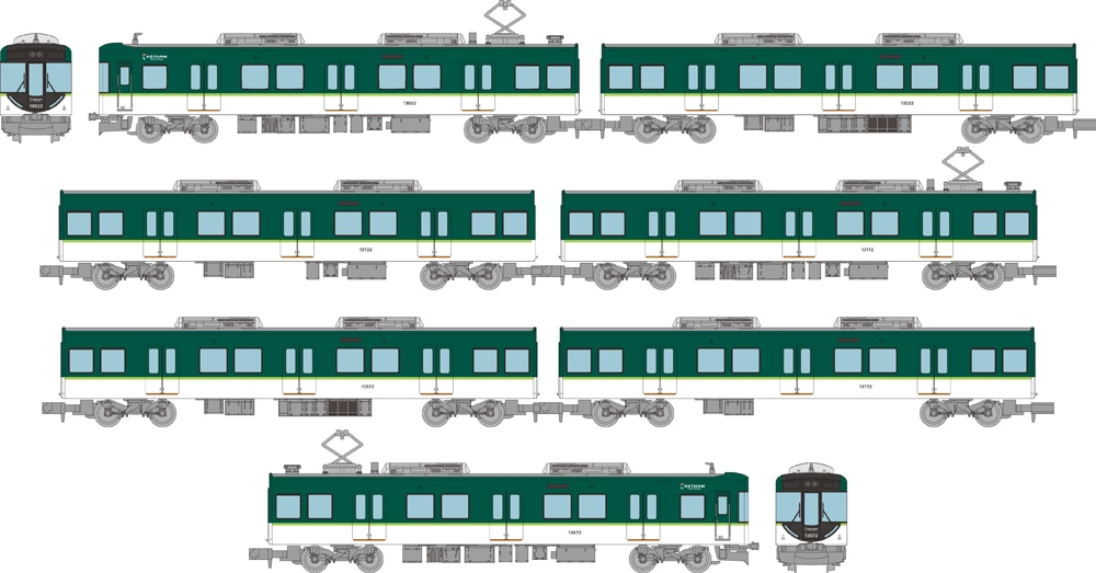 鉄道コレクション 京阪電気鉄道13000系 7両セットC