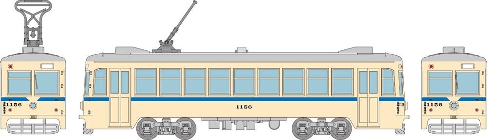 鉄道コレクション 横浜市電1150形 1156号車(青帯)B