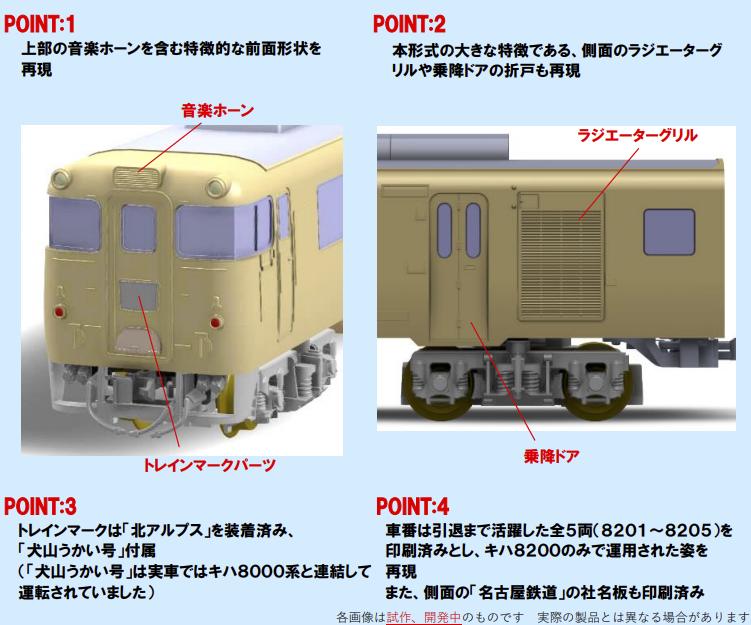 TOMIX トミックス 98446 名鉄キハ8200系(北アルプス)セット