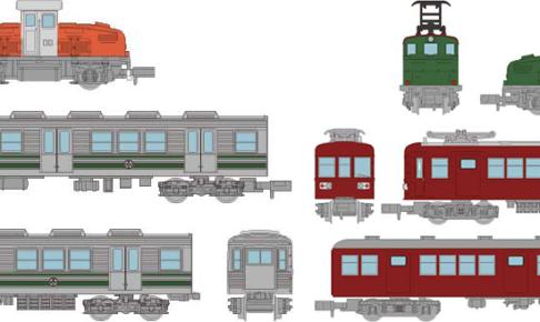 ノスタルジック鉄道コレクション 富井化学工業従業員専用通勤列車 3両セットA