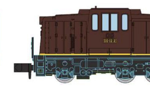 MICROACE マイクロエース A1045 Cタイプディーゼル機関車 DD12タイプ 茶色 黄帯