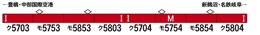 GREENMAX グリーンマックス 50700 名鉄5700系(5703編成+5704編成)8両編成セット(動力付き)