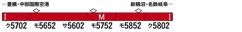 GREENMAX グリーンマックス 31544 名鉄5700系(5702編成)6両編成セット(動力付き)