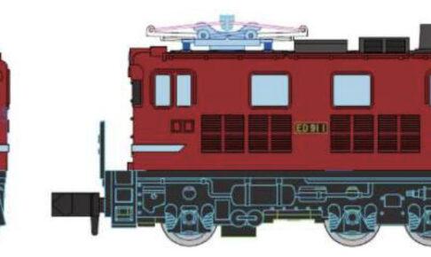 MICROACE マイクロエース A1046 Cタイプ電気機関車 ED91-1タイプ 朱色