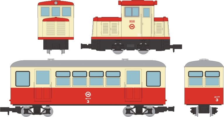 鉄道コレクション ナローゲージ80 想い出の尾小屋鉄道 DC121タイプ+ホハフ3タイプ 2両セット
