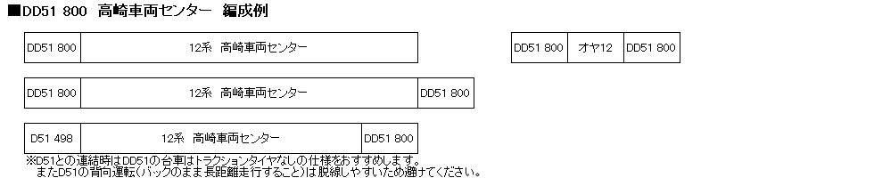 KATO カトー 7008-G DD51 800番台 高崎車両センター