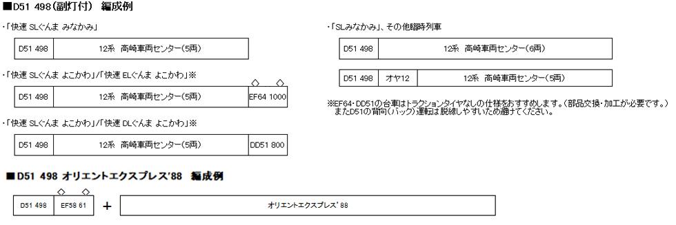 KATO カトー 2016-A D51 498 (副灯付)